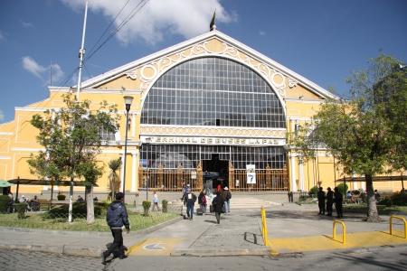 Central bus station in La Paz, Bolivia, South America - 20 09 2013