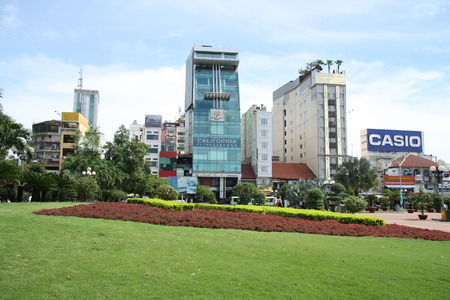 The landscape of Saigon: Các tòa nhà hiện đại ở trung tâm thành phố Hồ Chí Minh, Việt Nam - 29.07.2014 biên tập