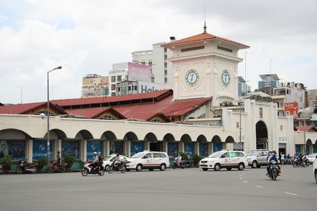 main market: Ben Thanh market main entrance in a center of Ho Chi Minh City, Vietnam - 29.07.2014 Editorial