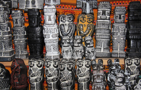 souvenir traditional: Traditional figures for Aymara rituals at the Witches Market, La Paz, Bolivia, South America