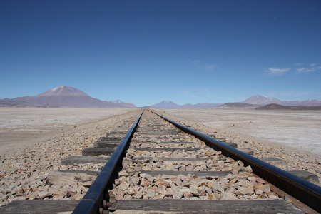 atacama: Railroad in Atacama Desert, Uyunu, Bolivia