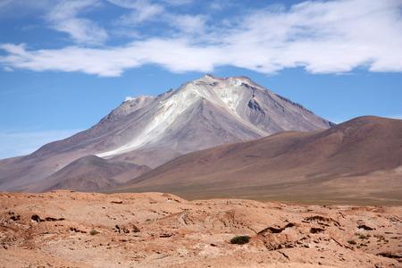 atacama: Ollague volcano in Atacama desert, Bolivia, Chile Stock Photo