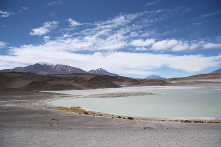 sulphuric acid: Laguna Honda - Deep Lagoon - in Eduardo Avaroa National Park in Bolivian Andes, Atacama Desert, South America