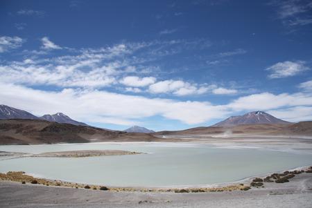 sulphuric acid: Laguna Honda - Deep Lagoon - in Eduardo Avaroa National Park in Bolivia, Uyuni, Atacama Desert, South America