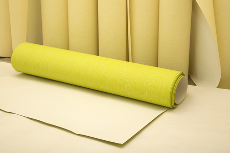 building materials: Rolls of wallpaper before applying on the wall
