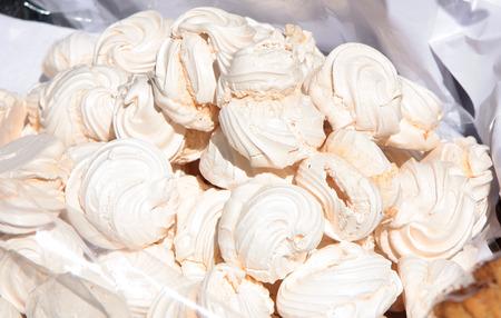 pastila: Dessert marshmallows for sale in a market Stock Photo