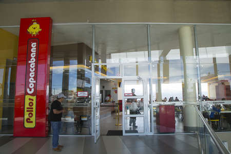 BOLIVIA, LA PAZ, 13 FEBRUARY 2017 - Entrance of the the Famous Pollos Copacabana fast food restaurant in La Paz, Bolivia, South America Editorial