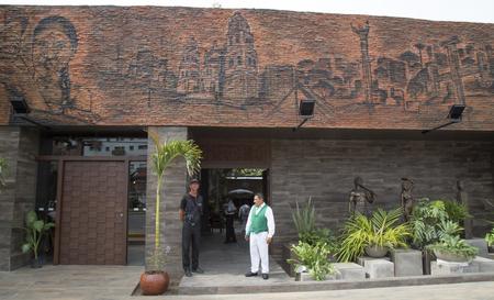 BOLIVIA, SANTA CRUZ DE LA SIERRA, 18 JANUARY 2017 - Exterior of one of the most famous restaurants LA CASA DEL CAMBA in Santa Cruz, Bolivia