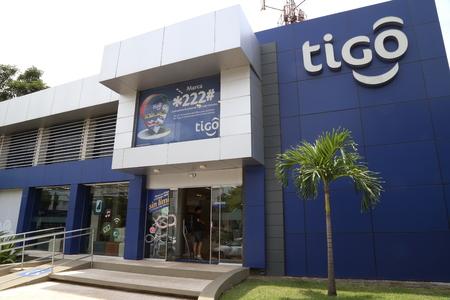 BOLIVIA, SANTA CRUZ, 18 JANUARY 2017 - TIGO mobile operator office building in Santa Cruz, Bolivia. Editorial
