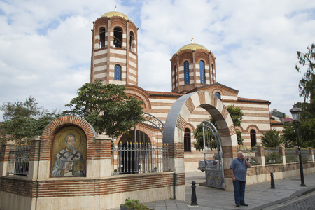 mosaic: GEORGIA, BATUMI, 4 OCTOBER 2016 - The Church of St Nicholas in Batumi, Georgia. Editorial