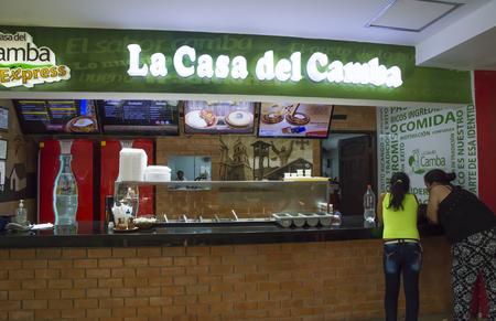 BOLIVIA, SANTA CRUZ DE LA SIERRA, 19 JANUARY 2017 - People in the shopping mall of Santa Cruz, Bolivia Editorial