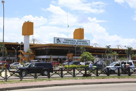 BOLIVIA, SANTA CRUZ DE LA SIERRA, 21 JANUARY 2017 - Terminal Bimodal Santa Cruz de la Sierra - central bus and train station of Santa Cruz de la Sierra in Bolivia