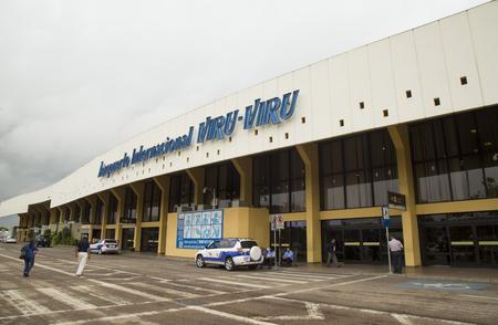 BOLIVIA, SANTA CRUZ DE LA SIERRA, 19 FEBRUARY 2017 - The terminal of the Viru-Viru International Airport of Santa Cruz De La Sierra in Bolivia