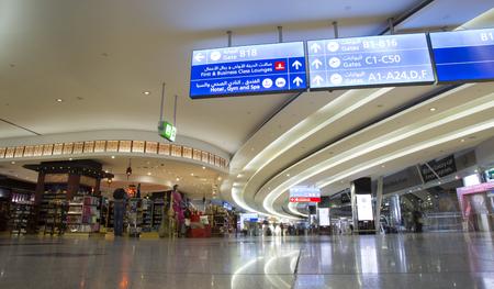 UNITED ARAB EMIRATES, DUBAI, 20 FEBRUARY 2017 - Interior of the Duty free shop of Dubai International Airport, United Arab Emirates