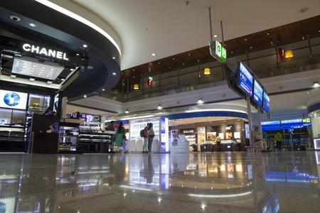 UNITED ARAB EMIRATES, DUBAI, 20 FEBRUARY 2017 - Duty free shops in Dubai International Airport, United Arab Emirates