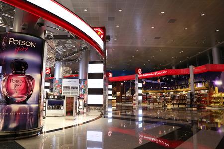 UNITED ARAB EMIRATES, DUBAI, 19 FEBRUARY 2017 - Famous brands in Duty free shop of Dubai International Airport, United Arab Emirates Redakční