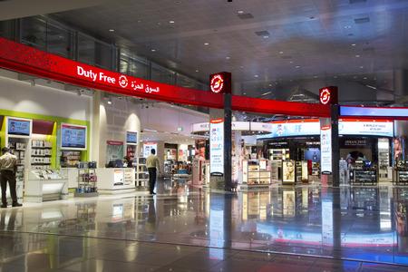 UNITED ARAB EMIRATES, DUBAI, 19 FEBRUARY 2017 - Interior of Duty free shop of Dubai International Airport, United Arab Emirates