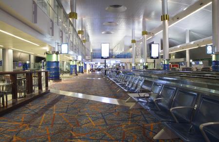 UNITED ARAB EMIRATES, DUBAI, 19 FEBRUARY 2017 - Large waiting lounge of Dubai International Airport