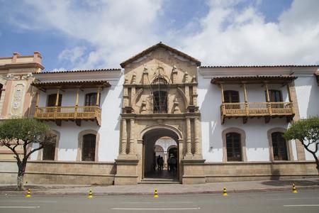 BOLIVIA, SUCRE, 9 FEBRUARY 2017 - Casa de Libertad - House of Freedom where, in 1825, the Bolivian Declaration of Independence Redakční