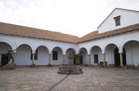 BOLIVIA, SUCRE, 9 FEBRUARY 2017 - The Courtyard of the House of Freedom - Casa de Libertad - where, in 1825, the Bolivian Declaration of Independence Redakční