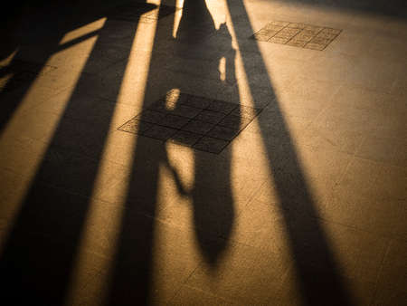woman shadow: woman shadow on ground