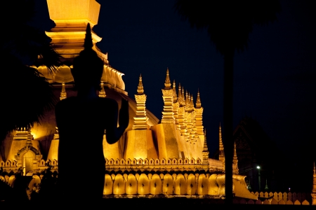 Vientiane  Pha That Luang Stock Photo