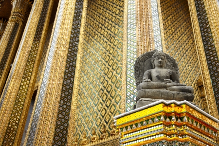 Stone Buddha  Wat Phra  Bangkok Stock Photo - 16362360