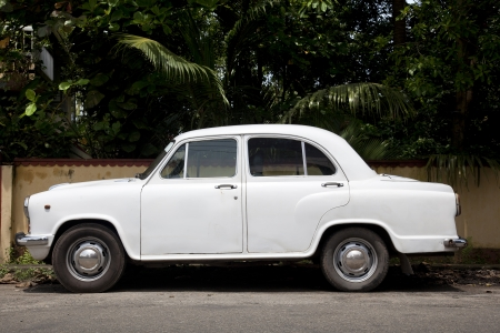 Side of the car more typical of India. The Hindustan Ambassador