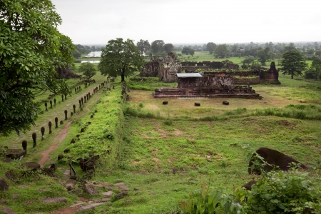 landscape of the ruins of Champasak