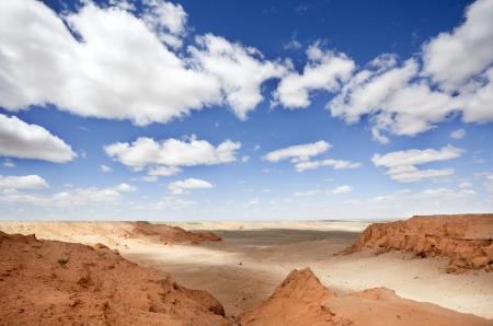 Gobi Desert landscape in Mongolia. grim picture