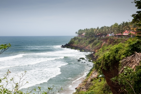 waves toward the cliffs of varkala Stock Photo - 16782014