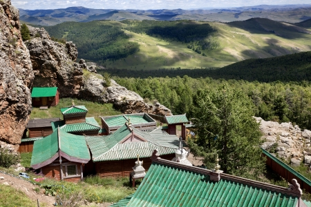 independent mongolia: views of the tuvkhun khiid monastery and its surroundings