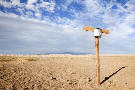 source in the gobi desert Stock Photo - 17048269