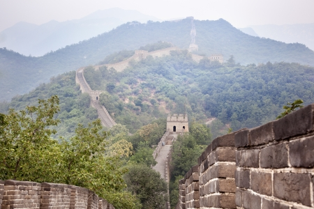 great wall of china lost in the fog photo