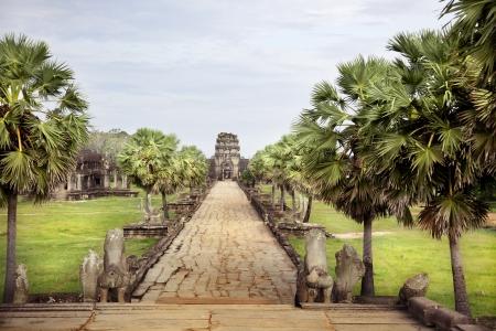 Interior of Angkor  Temple of Angkor Wat Stock Photo - 17589589
