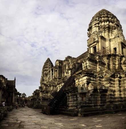 Interior of Angkor  Temple of Angkor Wat Stock Photo - 17585846
