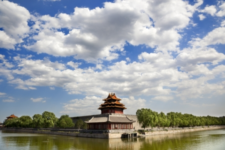 One of the towers of the Forbidden City
