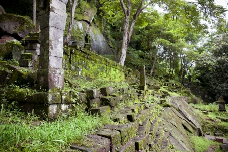 landscape of the ruins of Champasak Stock Photo - 17589649