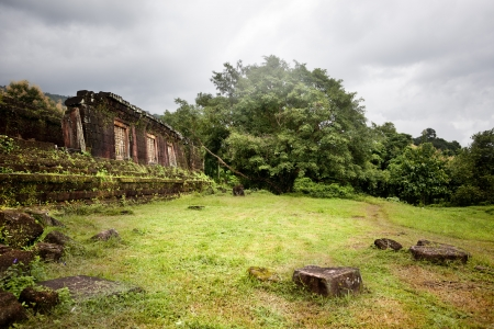 landscape of the ruins of Champasak photo