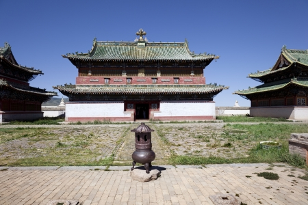 independent mongolia: front of the monastery of Erdene Zuu with courtyard