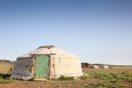 independent mongolia: Early in the morning in a Ger. Mongolia