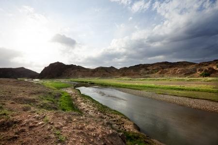 independent mongolia: Gobi Desert landscape in Mongolia. Stock Photo