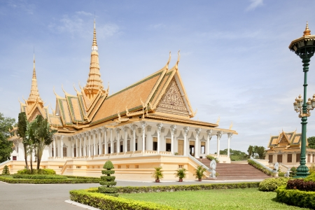 Inside the gardens of the royal palace in Cambodia