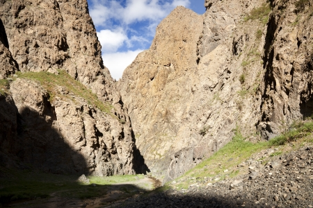 independent mongolia: way to the canyon Yoliin Am in the Gobi Desert