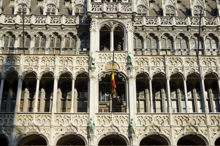 achitectural: Gothic facade in Brussels