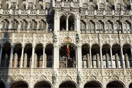 achitectural: Gothic facade in Brussels
