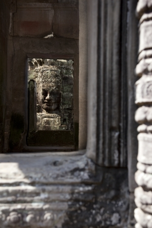 faces in the temples of angkor Stock Photo - 19590056