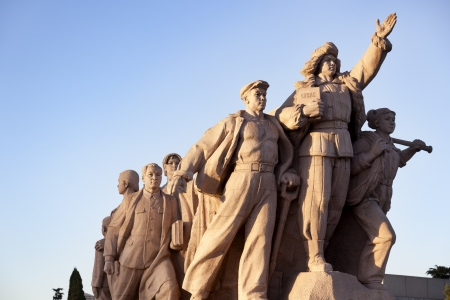 Statue of the workers in Tiananmen Square Editorial