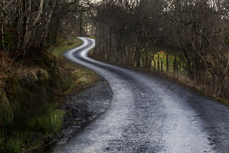 non marking: Lonely winding road   Stock Photo