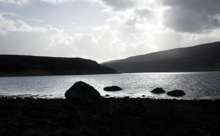 Backlight in a beach near to Waternish  Scotland photo